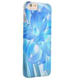 Ethereal Blue Lily, Winter Floral Fantasy Barely There iPhone 6 Plus Case