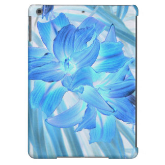 Ethereal Blue Lily, Winter Floral Fantasy iPad Air Covers