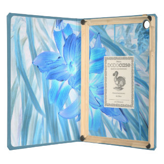 Ethereal Blue Lily, Winter Floral Fantasy Cover For iPad Air