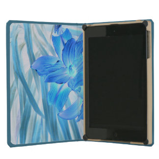 Ethereal Blue Lily, Winter Floral Fantasy iPad Mini Retina Cover