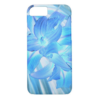 Ethereal Blue Lily, Winter Floral Fantasy iPhone 7 Case