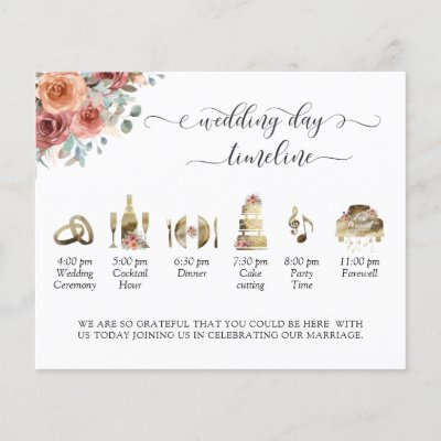Ethereal Blush Peach Wedding Timeline and Program