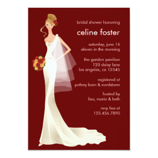 "Ethereal Bride Wedding Shower Card 5"" X 7"" Invitation Card"