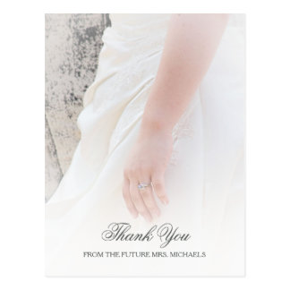 Ethereal Brides Hand Photo Bridal Shower Thank You Postcard