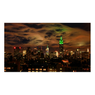 Ethereal Clouds: NYC Skyline, Empire State Bldg Double-Sided Standard Business Cards (Pack Of 100)