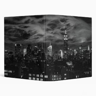 Ethereal Clouds: NYC Skyline, Empire State Bldg BW Binder