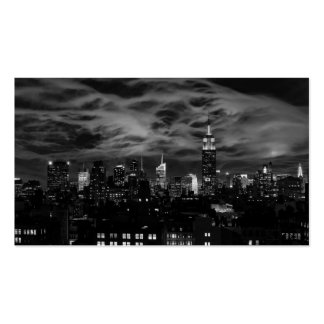 Ethereal Clouds: NYC Skyline, Empire State Bldg BW Double-Sided Standard Business Cards (Pack Of 100)