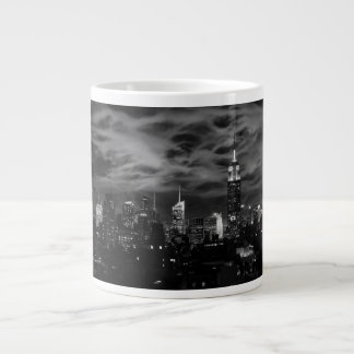 Ethereal Clouds: NYC Skyline, Empire State Bldg BW Giant Coffee Mug