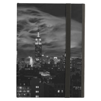 Ethereal Clouds: NYC Skyline, Empire State Bldg BW iPad Folio Case
