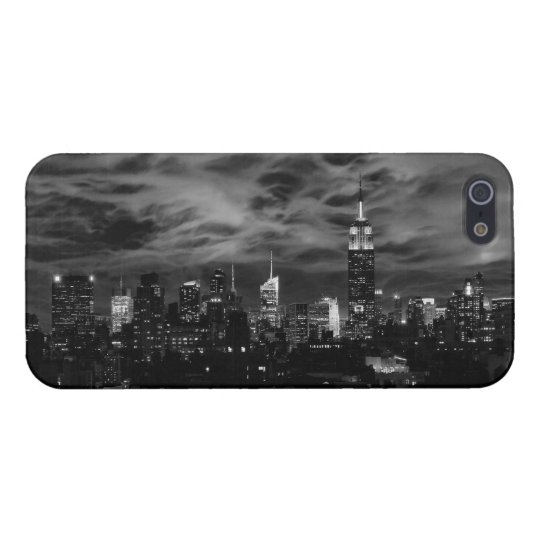 Ethereal Clouds: NYC Skyline, Empire State Bldg BW iPhone SE/5/5s Cover