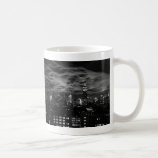 Ethereal Clouds: NYC Skyline, Empire State Bldg BW Mugs