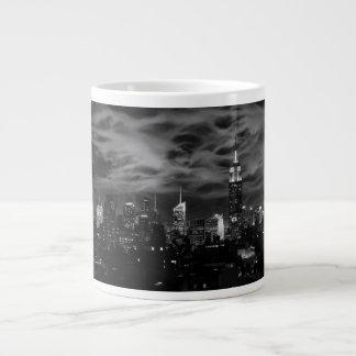 Ethereal Clouds: NYC Skyline, Empire State Bldg BW Jumbo Mug