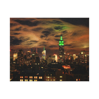 Ethereal Clouds: NYC Skyline, Empire State Bldg Gallery Wrap Canvas
