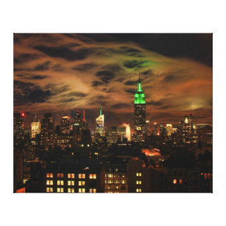 Ethereal Clouds: NYC Skyline, Empire State Bldg Canvas Print