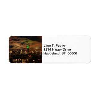 Ethereal Clouds: NYC Skyline, Empire State Bldg Return Address Label