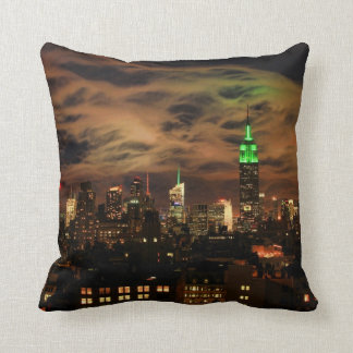 Ethereal Clouds: NYC Skyline, Empire State Bldg Throw Pillow