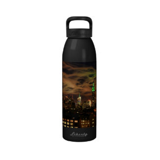 Ethereal Clouds: NYC Skyline, Empire State Bldg Drinking Bottles