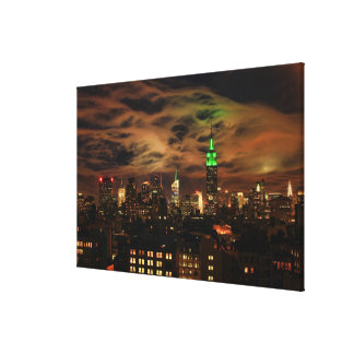 Ethereal Clouds NYC Skyline Empire State Bldg XL Canvas Print
