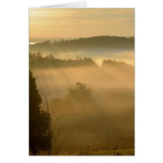 Ethereal dawn landscape card