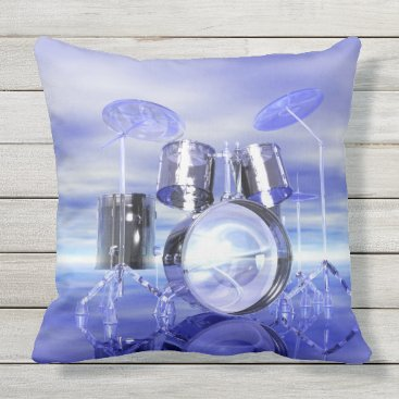 Beach Themed Ethereal Drums on the Ocean Beach Music Pillow