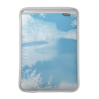 Ethereal Fantasy Blue, White Winter River 13 Inch MacBook Sleeves