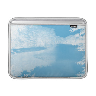 Ethereal Fantasy Blue, White Winter River 13 Inch MacBook Air Sleeves