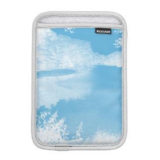 Ethereal Fantasy Blue, White Winter River iPad Mini Sleeves
