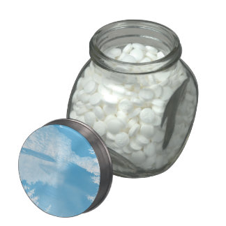 Ethereal Fantasy Blue, White Winter River Jelly Belly Candy Jars