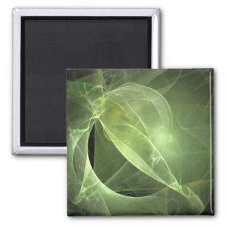 Ethereal Green fractal Refrigerator Magnet
