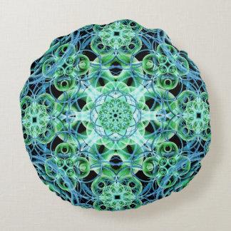 Ethereal Growth Mandala Round Pillow