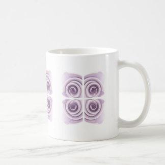 Ethereal Lilac Rose Abstract Swirls Coffee Mug