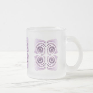 Ethereal Lilac Rose Abstract Swirls Frosted Glass Coffee Mug