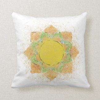 Ethereal Lotus Flower Throw Pillow