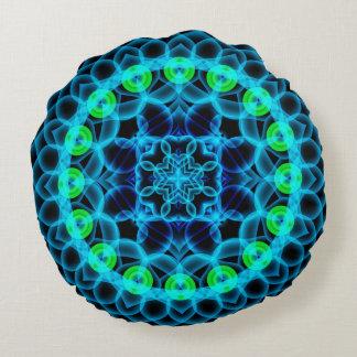 Ethereal Lotus Mandala Round Pillow