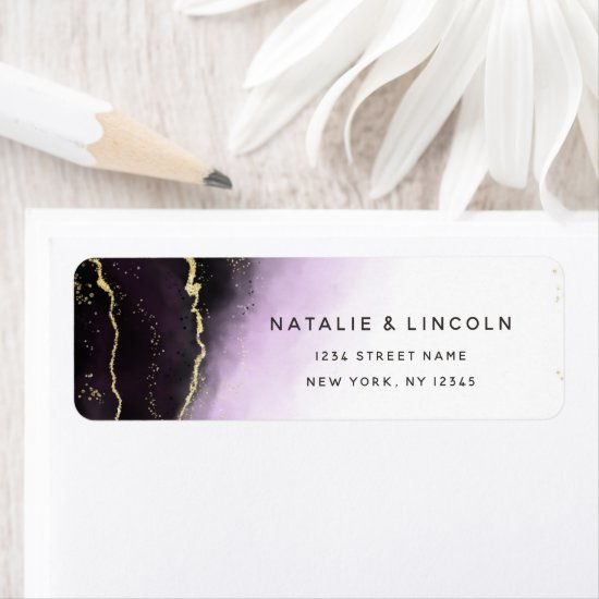 Ethereal Mist Ombre Amethyst Purple Return Address Label