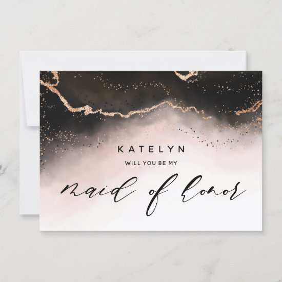 Ethereal Mist Ombre Blush Maid of Honor Proposal