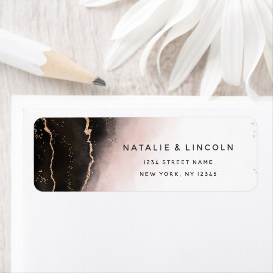 Ethereal Mist Ombre Blush Moody Return Address Label