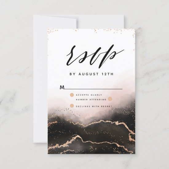 Ethereal Mist Ombre Blush Pink Gilded Moody RSVP