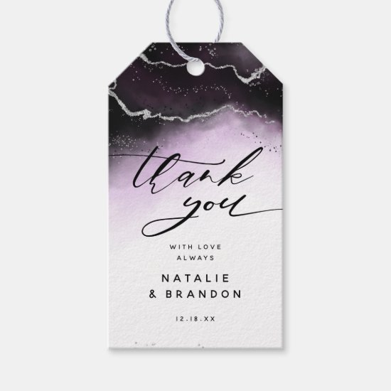 Ethereal Mist Ombre Ultra Violet Moody Thank You Gift Tags