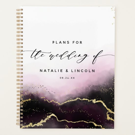 Ethereal Mist Ombre Wine Watercolor Moody Wedding Planner