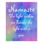 Ethereal Namaste meaning poster