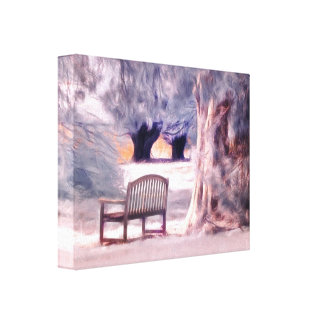 Ethereal parks scene canvas print