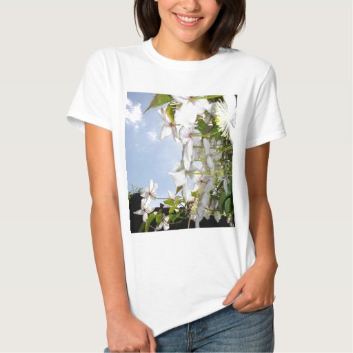 ETHEREAL PETALS WITH SKY T SHIRT