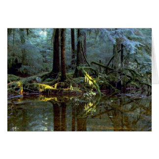 Ethereal pool in forest, Stillaguamish River, Wash Greeting Card
