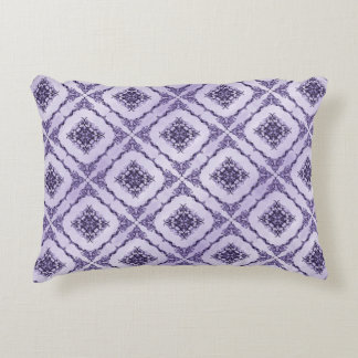 Ethereal Purple And Lavender Fractal Design Decorative Pillow