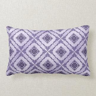 Ethereal Purple and Lavender Fractal Design Lumbar Pillow