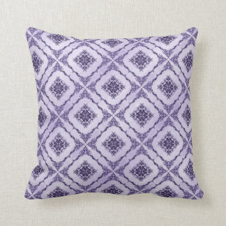 Ethereal Purple and Lavender Fractal Design Throw Pillow