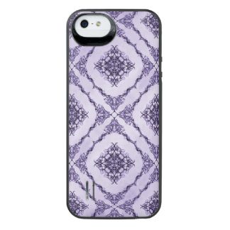 Ethereal Purple and Lavender Fractal Design Uncommon Power Gallery™ iPhone 5 Battery Case