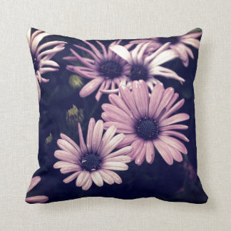 Ethereal Purple Daisies Throw Pillow