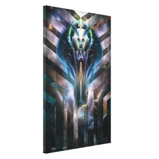Ethereal Queen Of Galaxy Canvas Print